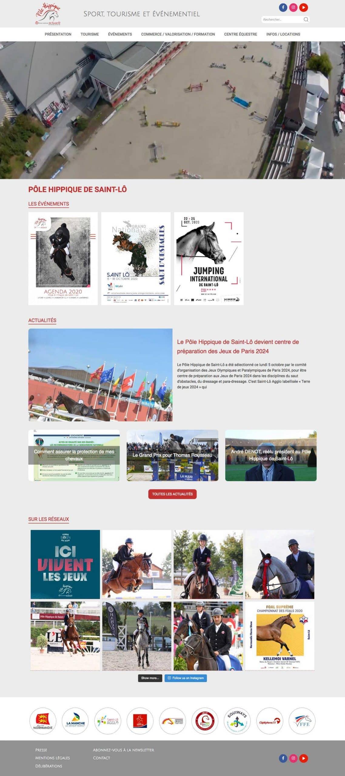 Aperçu du site internet Pôle Hippique de Saint-Lô