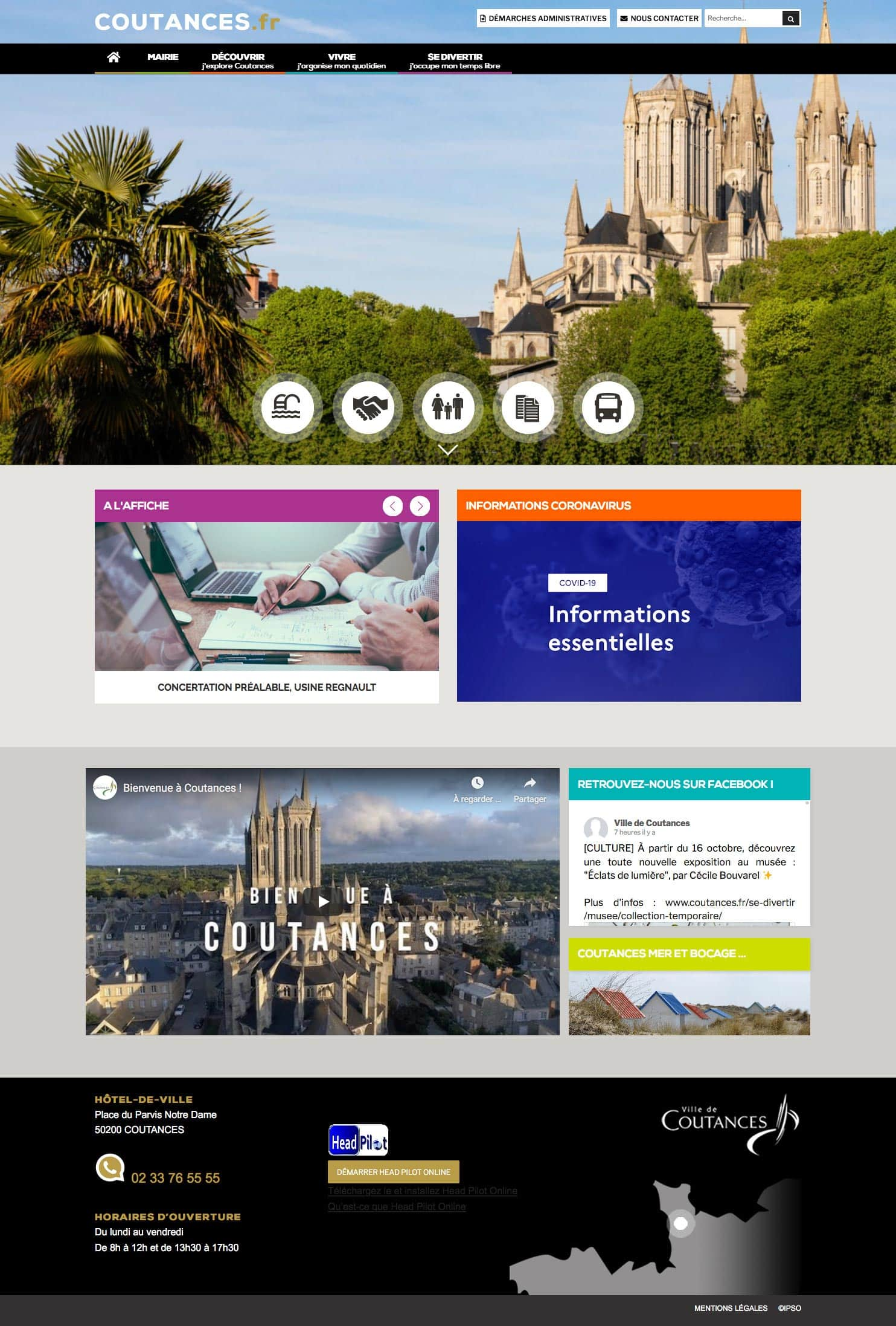 Site web responsive, Coutances