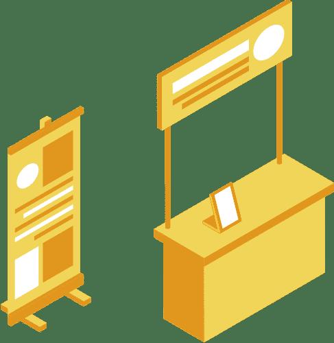 IPSO, élaboration de PLV / Stands